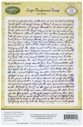 Justrite Papercraft Script Cling Background Stamp, 4.5 by 5.75'' by Justrite Papercraft