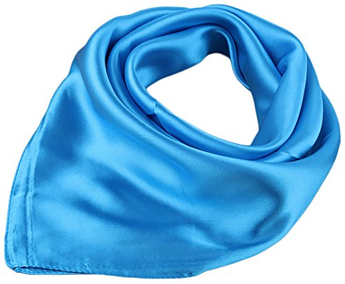 Womens Solid Charmeuse Neckerchief Square product image