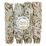 8.5''+ Large California White Sage, Each Stick Approximately 8.5 Inches Long and 1.5 Inches Wide for Smudging Rituals, Energy Clearing, Protection, Incense, Meditation, Made in USA (4 - Extra Large)
