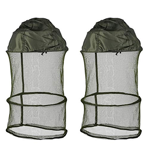 Mosquito Head Net Hat - Protection Face Neck Mask from Insect Bug Bee Gnats Anti-Mosquito Bucket Sun Hat for Fishing Camping Beekeeping Men Women (2 Pcs)