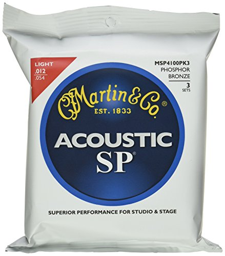 Martin MSP4100 SP Phosphor Bronze Acoustic Guitar Strings, Light 3 (Martin Msp4100 Light)