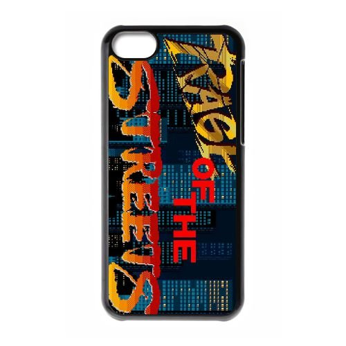 Streets Of Rage2 coque iPhone 5c cellulaire cas coque de téléphone cas téléphone cellulaire noir couvercle EEECBCAAN04878