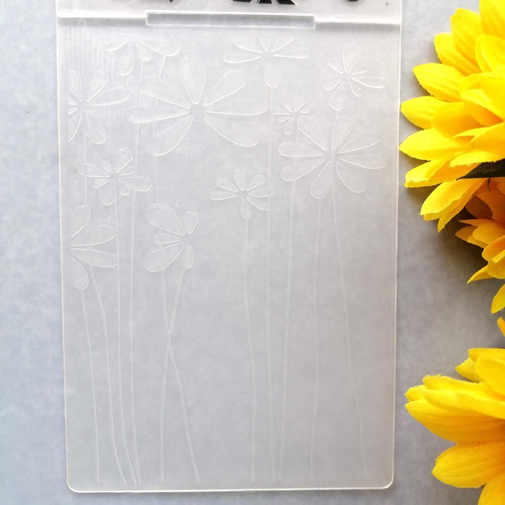 GAWEI Sweet Flowers Embossing Folders for Card Making and DIY Scrapbooking Craft Template Mold Making Photo Album Decor