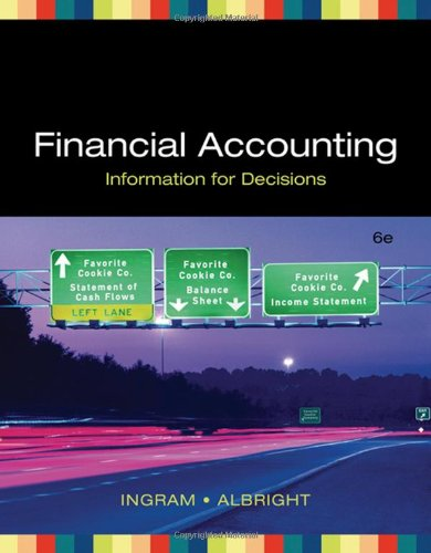 FINANCIAL ACCOUNTING: INFOR FOR DECISIONS (Available...