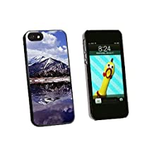 Graphics and More Rocky Mountain Reservoir Snap-On Hard Protective Case for iPhone 5/5s - Non-Retail Packaging - Black
