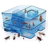 JEEZAO Trampa Cucarachas Asesina Caja Reutilizable,Cucarachas Capturar,Ambientalmente Segura,sin