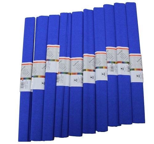 Staufen 617149 - Krepppapier 10 Rollen 50 x 250 cm, brilliant - blau