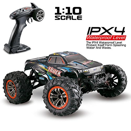 RC Car - Vanvler 1/10 Scale High Speed 46km/h 2.4Ghz 4WD Radio Controlled Off-Road RC Car (Multicolor)