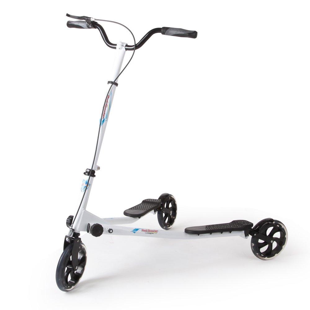 AODI 3 Wheels Foldable Scooter Push Swing Slider Wiggle Trike Striker Drifter Scooter for Kids over 9 Year Older - Multiple Colors