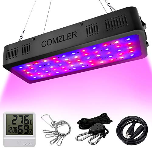 Comzler LED Plant Grow Light 600W, Full Spectrum Double Switch for Indoor Plants Veg and Flower, IR&UV Growing Lamp Kits with Daisy Chain Function for Greenhouse Hydroponic Plants 400w Mh Grow Light