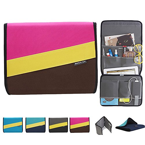 ipad sleeve bag,10inch Neoprene Sleeve Bag for Ipad Iphone and More Hand Phone and Accessories Holder (pink) ()