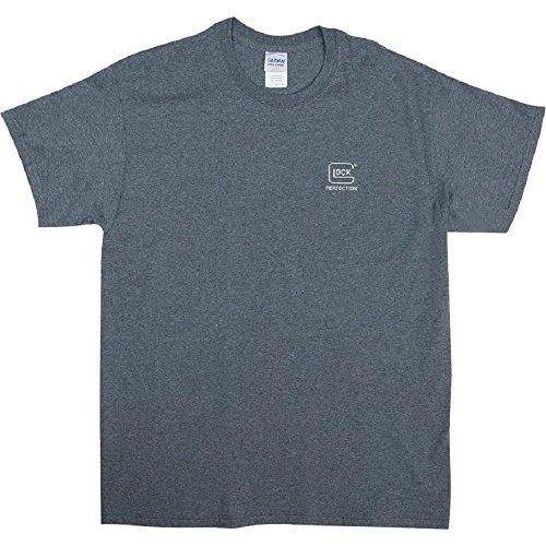 Glock OEM Pistol Sketch Short Sleeve T-Shirt, Medium, Charcoal Heather