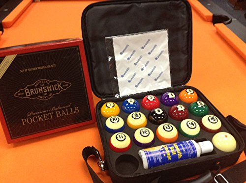 BRUNSWICK CENTENNIAL BALLS with ARAMITH CARRYING CASE. for sale  Delivered anywhere in USA