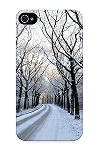 0ff2eb26281 QueenVictory Awesome Case Cover Compatible With Iphone 4/4s - Landscapes Nature Winter Trees Snow