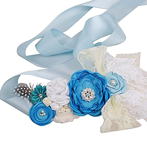 light blue belt womens - 9