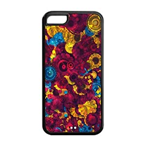 psychedelic Custom TPU Case Cover Protective Skin For Iphone 5C