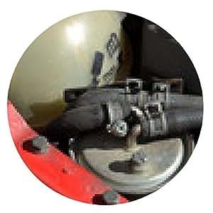 alfombrilla de ratón Detalle del refrigerador de motor diesel del coche moderno - ronda - 20cm