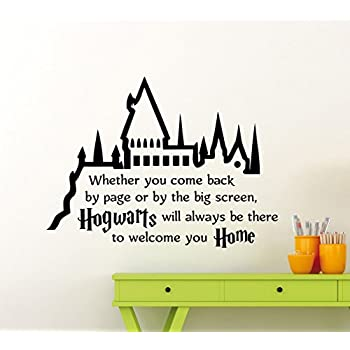 Harry Potter Wall Decal Hogwarts Quote Vinyl Sticker Superhero Movie Poster  Home Family Teen Boy Girl Part 82