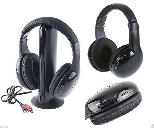 Takestop® - Auriculares 5 en 1 inalámbricos, para radio FM, MP3, PC, TV, dispositivos de audio: Amazon.es: Electrónica