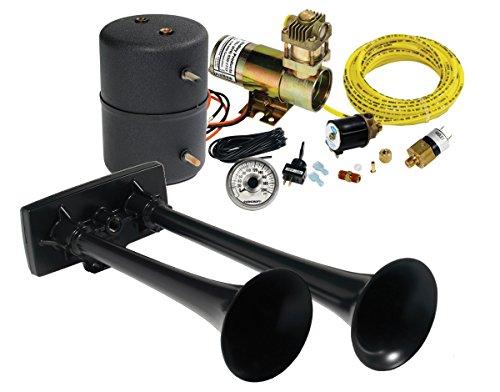Hadley Horns H00964HM Black Air Horn Kit (Hadley Horn Air Parts)
