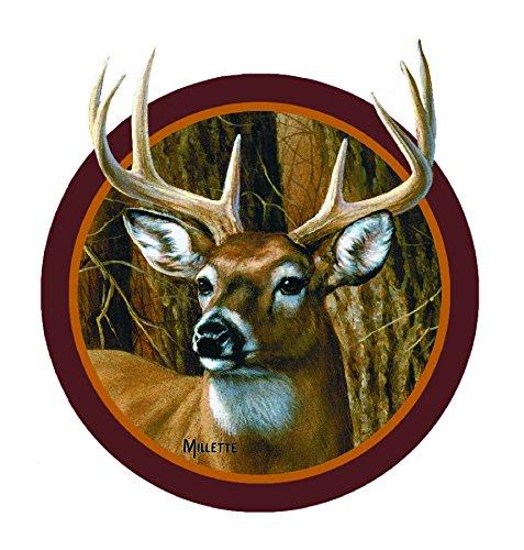 - Enjoy It Wild Wings Whitetail Deer Head Car Sticker, Outdoor Rated Vinyl Sticker Decal