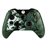 eXtremeRate Lonely Skull Faceplate Front Housing Shell Upper Case Top Cover Replacement Parts Mod Kits for Standard Xbox One Controller With and Without 3.5 mm jack