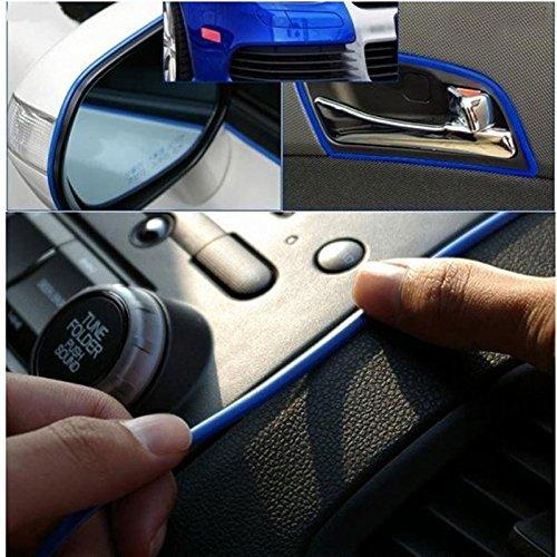 Decoration Sticker Thread Car Interior Exterior Body Modify Decal Blue