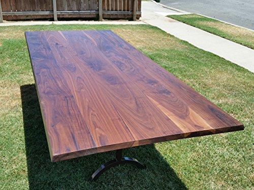 Wood Table - Walnut Table - Trestle Base - Metal Base