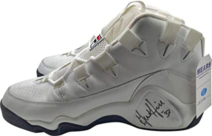 7207727f3ccb Grant Hill Signed Autographed Game Issued Fila Basketball Sneakers MEARS -  JSA Certified - Autographed NBA