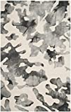 Safavieh Dip Dye Collection DDY517E Handmade Modern Abstract Watercolor Beige and Charcoal Wool Area Rug (3′ x 5′) For Sale