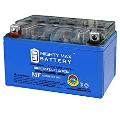 The YTX7A-BS GEL is a 12V 6AH GEL (Maintenance Free) battery. Requires no addition of water during the life of the battery. The Mighty Max YTX7A-BS GEL is a TRUE DEEP CYCLE battery that can be mounted in any position, requires no maintenance....