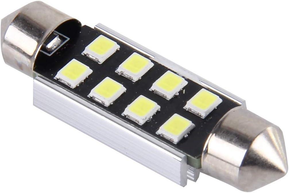 2 PCS ASDHOI Fehlerfrei Auto Lampe 39mm Festoon 3W 300LM wei/ße Licht-8 LED 3528 SMD DC 12