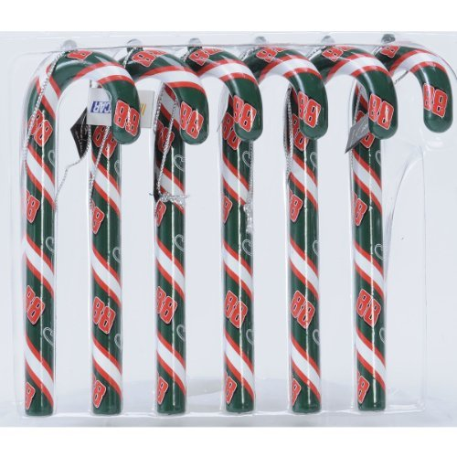 (Team Beans Dale Earnhardt, Jr. AMP Energy Candy Cane Ornament - Set of 6 - JR AMP ENERGY Set of 6)