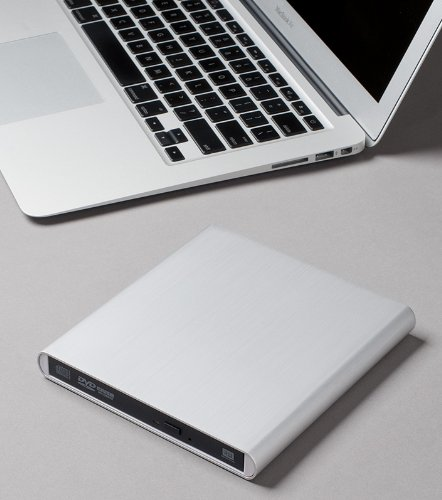 Aluminum External USB DVD+RW,-RW Super Drive for Apple--MacBook Air, Pro, iMac, (Apple Imac Pro)