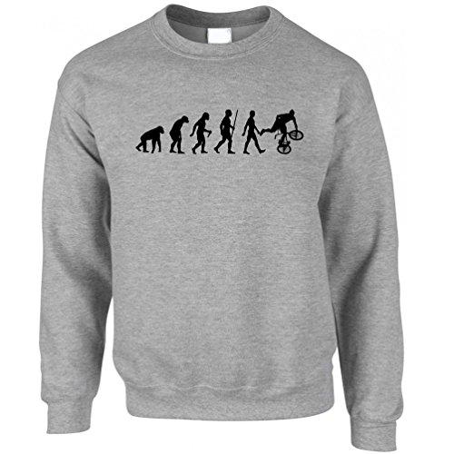 Tim And Ted Exrtreme Sports Sweatshirt Evolution of BMX Bike Dirt Grey -