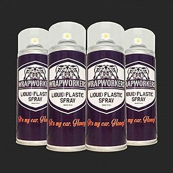 WrapWorkers Pintura para Llantas: 4 Spray Negro Mate: Amazon.es: Coche y moto