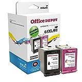 Office Depot OD61XLK61C (HP 61XL/61) Remanufactured Black/Tricolor Ink Cartridges, Pack of 2, OD61XLK61C