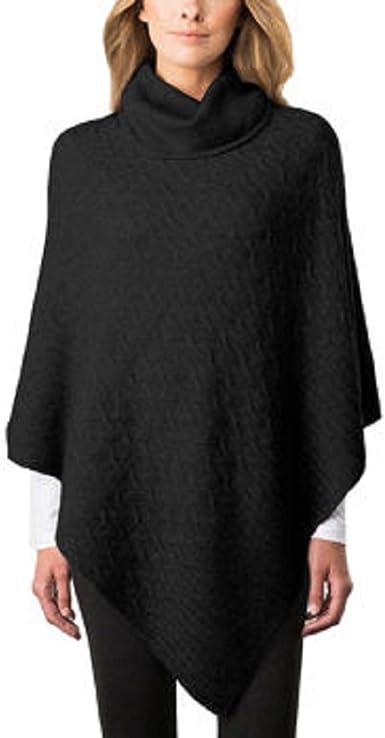Celeste Women/'s Cashmere Wool Blend Poncho  Quicksilver Blue