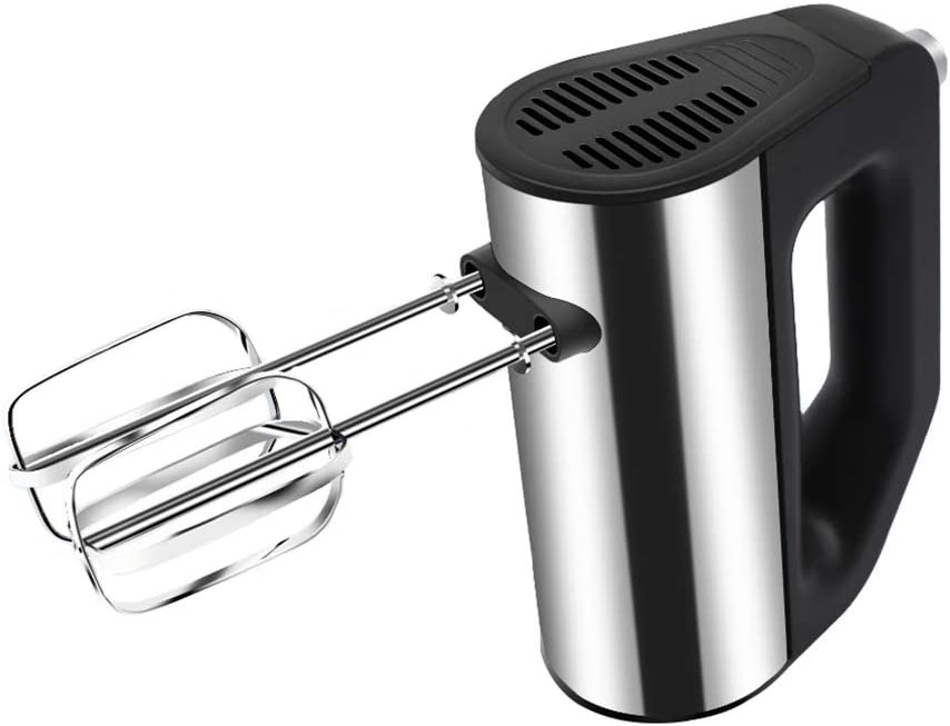 5 Speed 200 watts,Black Meringues /& More Mixing Cookies Cakes Dough Compact Hand Mixer Electric for Whipping Brownies Batters