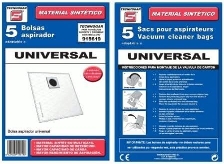 Bolsa sintetica aspirador Ufesa UNIVERSAL 5 UNIDADES 915619 ...