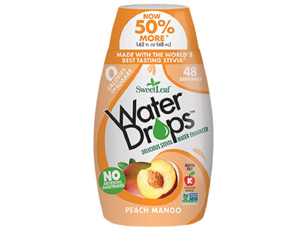 SweetLeaf Peach Mango Water Drops1.62 Ounces (Pack of 6) by SWEET LEAF