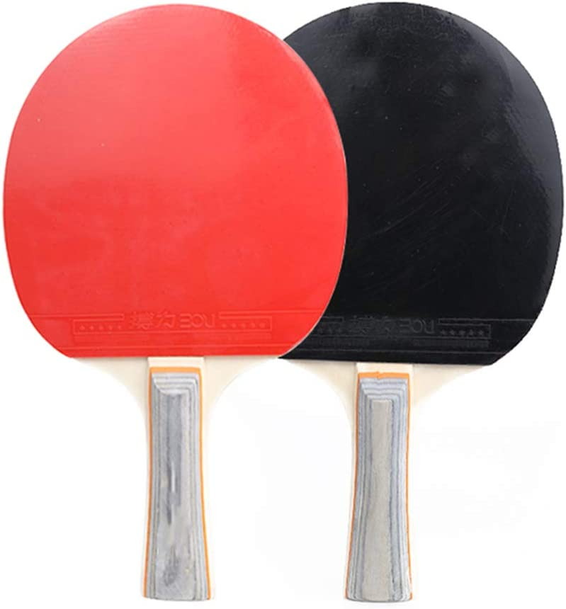 2 Ping Pong Rackets,3 Standard Balls and Portable Cover Case Bag GOOJP Ping Pong Paddle Set,Premium Table Tennis Set with Expandable Net