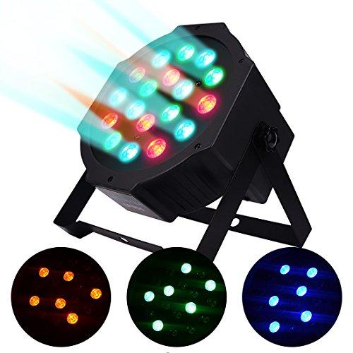 BETOPPER Par Lights 18 LED RGB 24W Par Stage Lights by DMX512 Music-activated(Sound Activated) for Wedding Show Club Bar Decoration