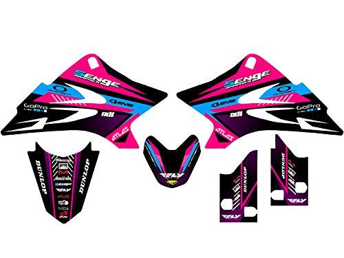Senge Graphics 2006-2019 Yamaha TTR 50, Surge Pink Graphics Kit Senge Graphics Inc.