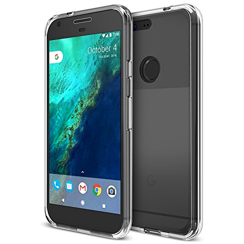 Google Pixel Case, Trianium [Clarium Series] Protective Clear Cases TPU Bumper + Scratch Resistant Soft TPU Transparent Covers for Google Pixel 2016 - Clear (TM000083)