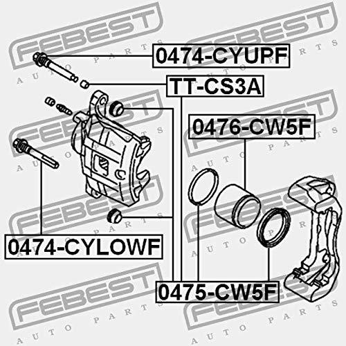 Febest FRONT BRAKE CALIPER REPAIR KIT 0475-CW5F
