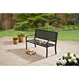Simple and Durable Powder-coated Steel Frame Bench, Black