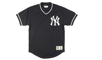 brand new 43b53 7b4d5 Amazon.com : Mitchell and Ness Yankees Black/White Mesh ...
