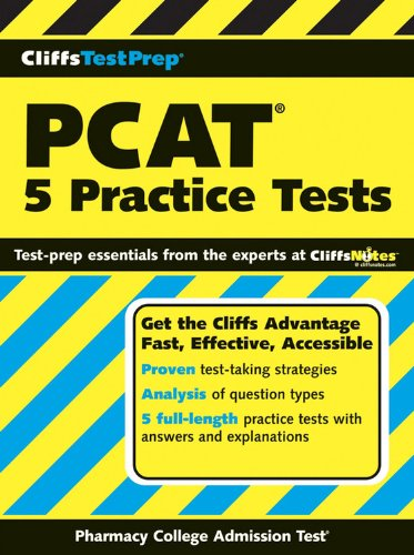 CliffsTestPrep PCAT: 5 Practice Tests