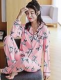 WWQY Women's Cotton Roman Knit Pajama , blushing pink , m